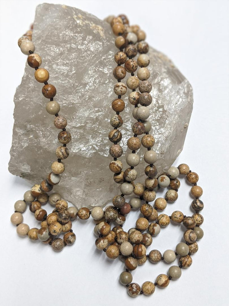 Picture Jasper Infinity Necklace - Goddess I AM