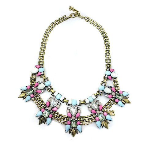 Lia Pastel Statement Necklace - Navya