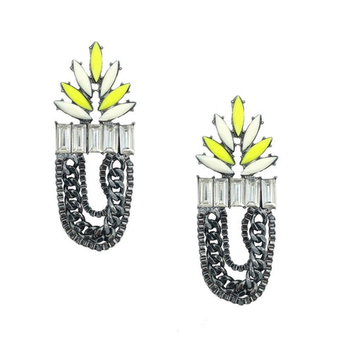 Vintage Inspired Chained Statement Earrings - Navya