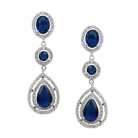 Victoria Royal Blue Crystal Earrings