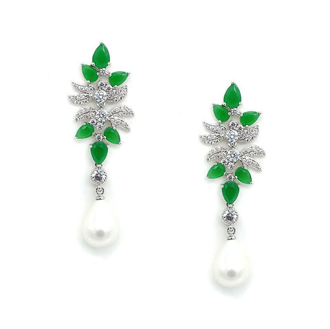 Olivia Crystal Statement Earrings - Navya