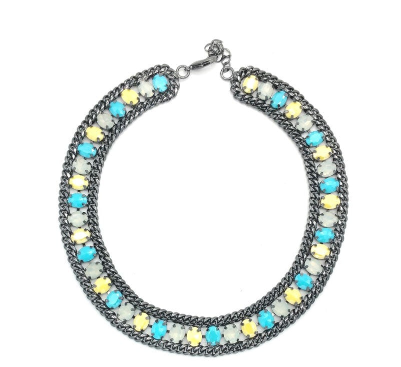 Ocean Drop Stunning Statement Necklace - Navya