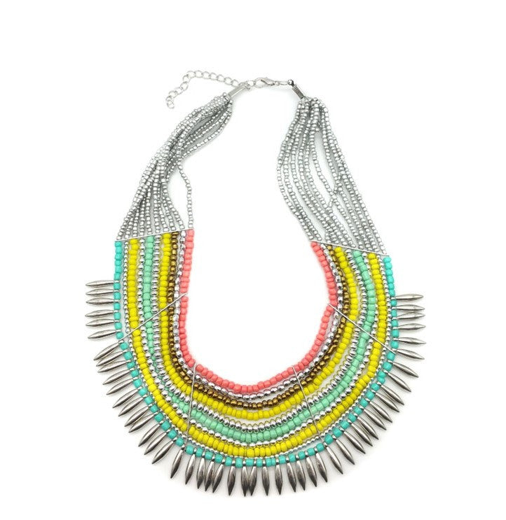 Luxurious Multicolor Statement Necklace - Navya