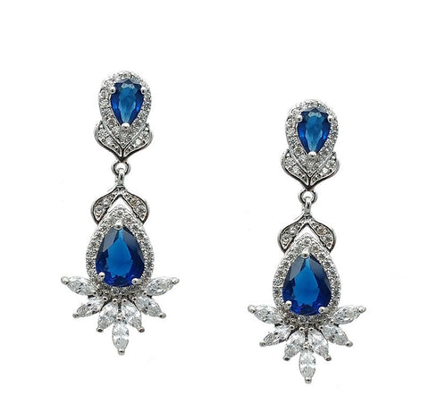 Gracie Royal Blue Earrings - Navya