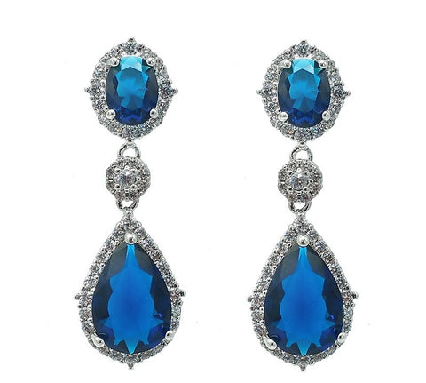 Ella Bridal Crystal Earrings - Navya