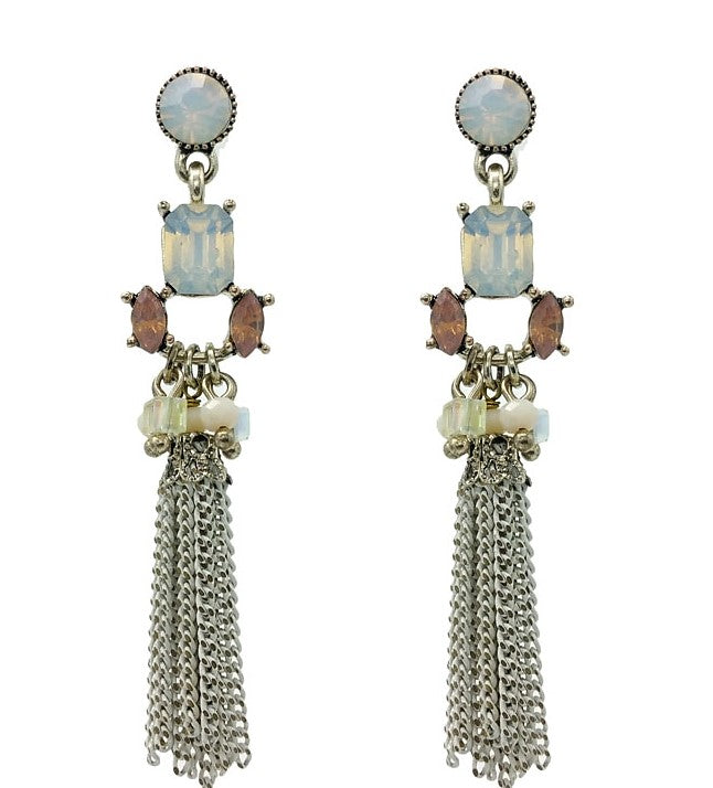 Chain Tassel Statement Earrings - Navya