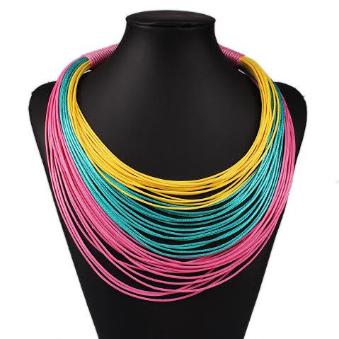 Necklace - MultiChain Statement Necklace - Navya