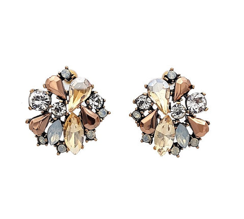 Grace-Luxe Statement Earrings - Navya
