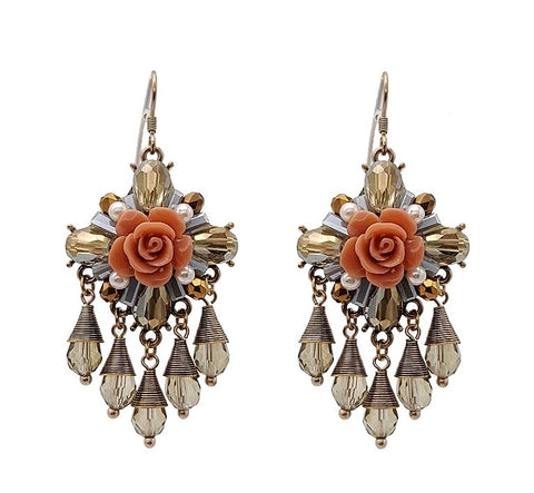 Emily Floral Statement Earring - Navya