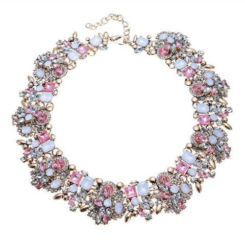 Mini Bouquet Fashion Statement Necklace - Navya