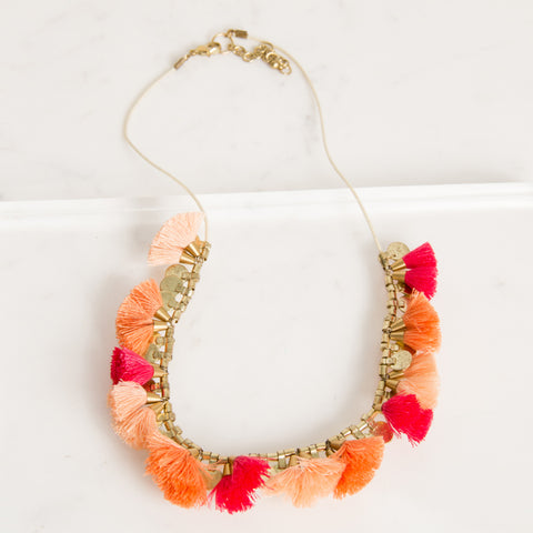 Ava Pom Pom Tassel Necklace - Navya