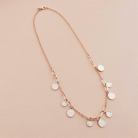 Raen Discs Link Long Necklace - Navya