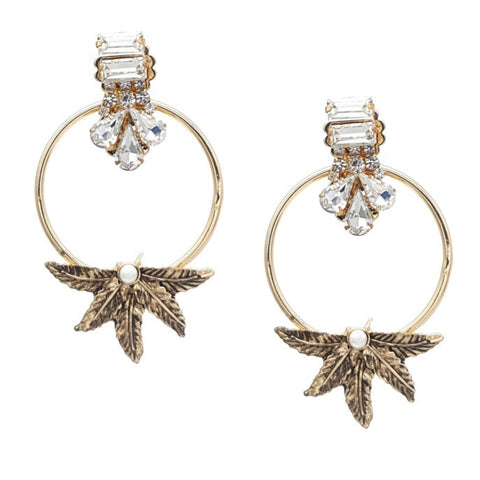Aeris Golden Statement Earrings - Navya