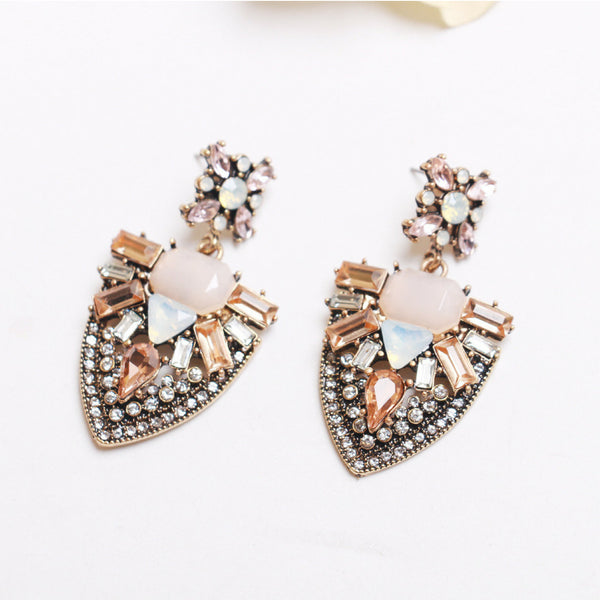 Amelia Rose Statement Earrings - Navya
