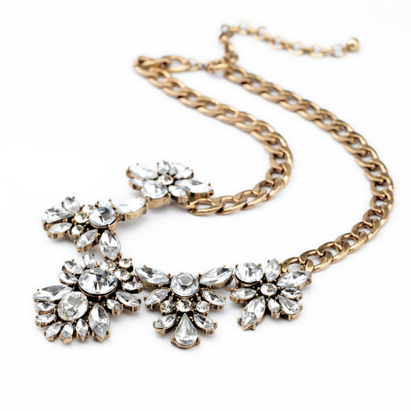 Andrea Floral Bib Crystal Statement Necklace featured shot