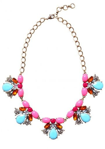 Aquamarino Candy Statement Necklace - Navya