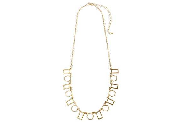 Delicate Geometric Gold Necklace - Navya
