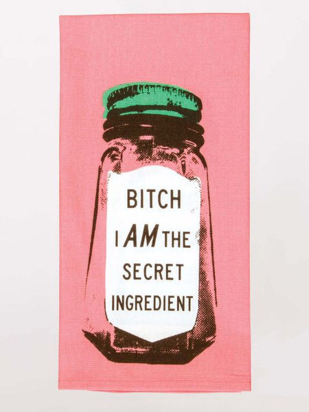 B*** I am the Secret Ingredient Kitchen Dish Towel - Blue Q - Navya