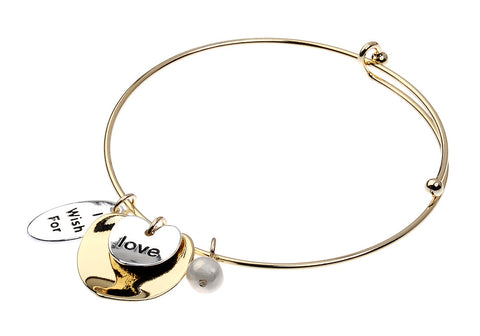 Gold and Silver Bracelet with Inscription - Navya