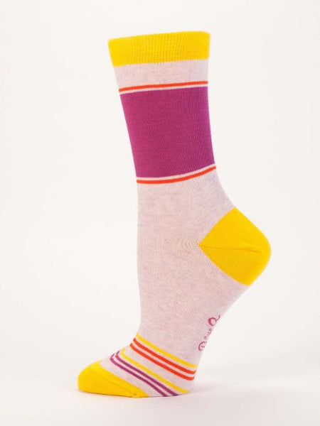 Women's Crew Socks - Duchess of Sassy Town - Blue Q - Navya