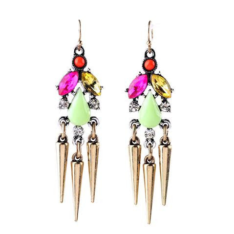 Hanging Spike Earrings - Navya