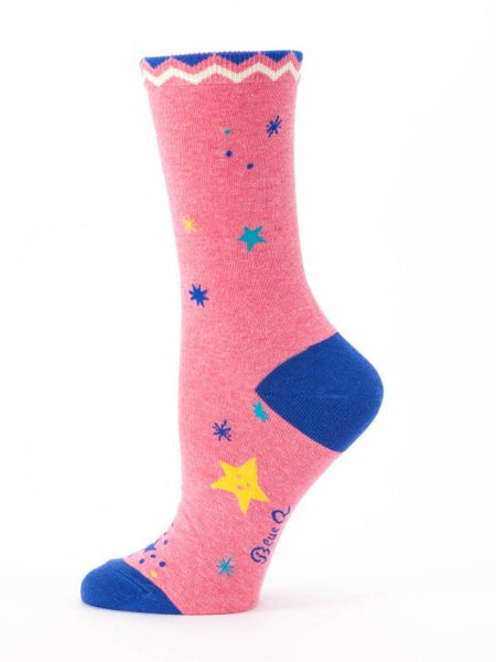 Women's Crew Socks - F**** Yeah Kind of Day - Blue Q - Navya
