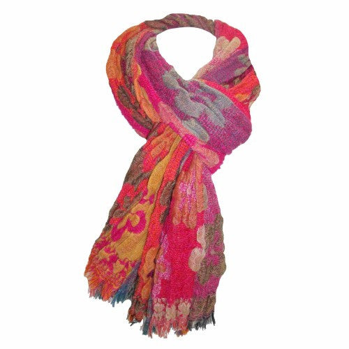 Summer Day Light Scarf - Multicolored Cotton Scarf - Navya