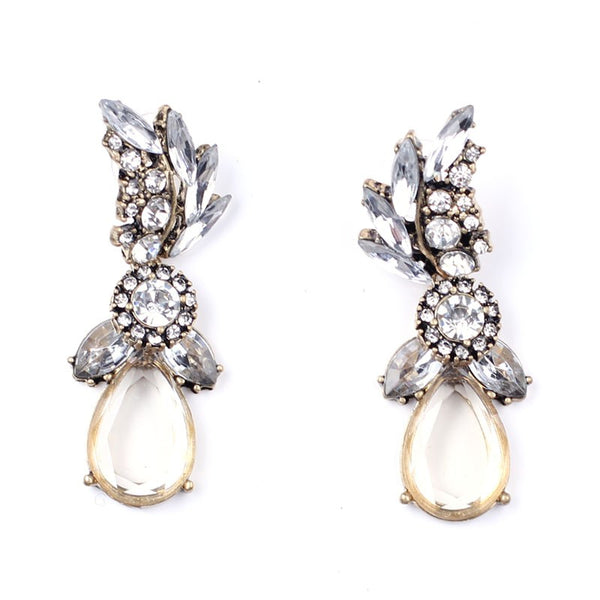 Glam Crystal Statement Earrings - Navya