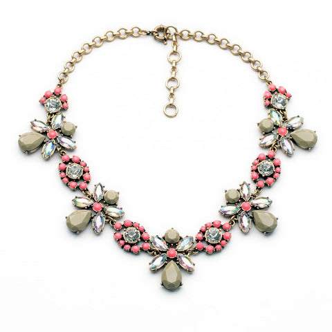 Daisy Gray Stunning Statement Necklace - Navya