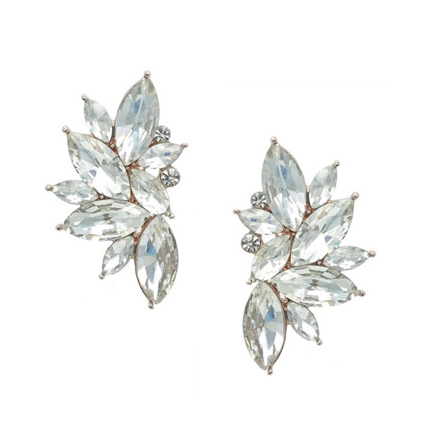 Helena Crystal Stud Earrings - Navya