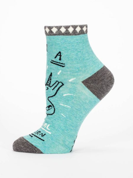 Women's Ankle Socks - I am a Special Unicorn - Blue Q - Navya