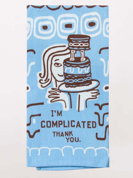 I am Complicated Thank You Kitchen Dish Towel - Blue Q - Navya
