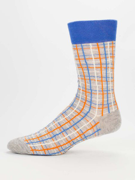 Men's Crew Socks - I don't care, I am high - Blue Q - Navya