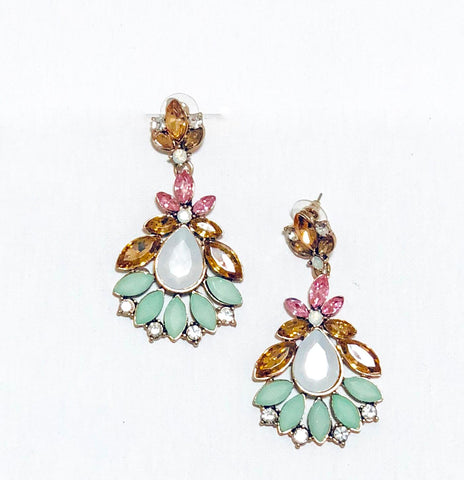 Nichola Multi-color Statement Earring - Navya