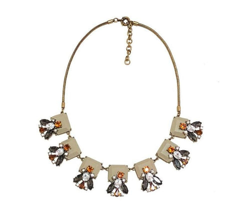 Morgan Plant Pendant Statement Necklace - Navya