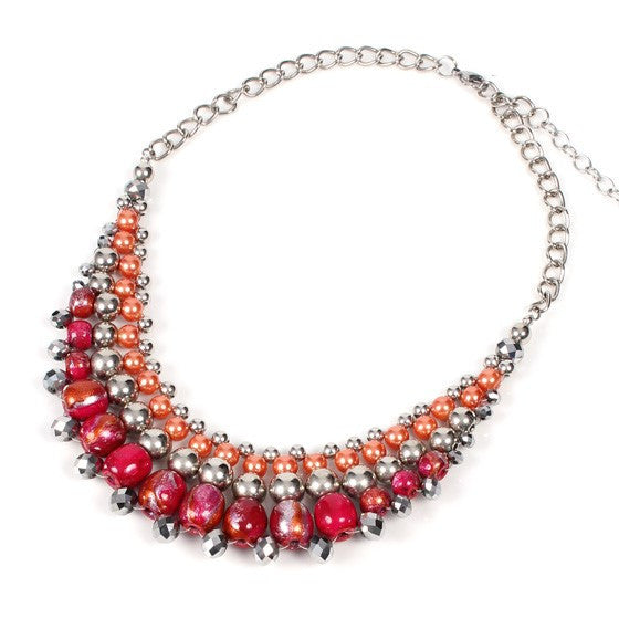 Strawberry Ice Papaya Moon Neckalce - Navya