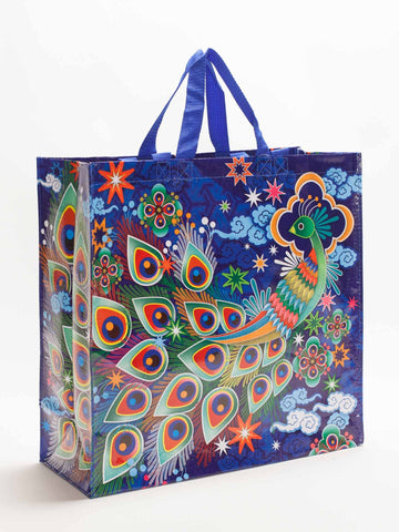 Peacock Shopper - Blue Q - Navya