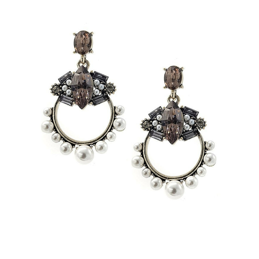 Mila Pearl Statement Earrings - Navya