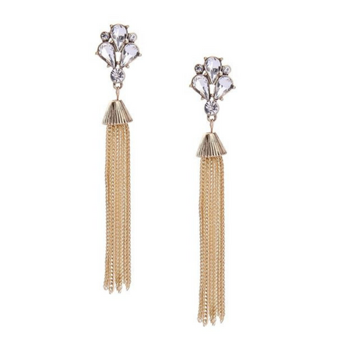 Aurelie Chain Tassel Earrings - Navya