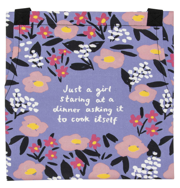 Just a Girl Apron - Blue Q