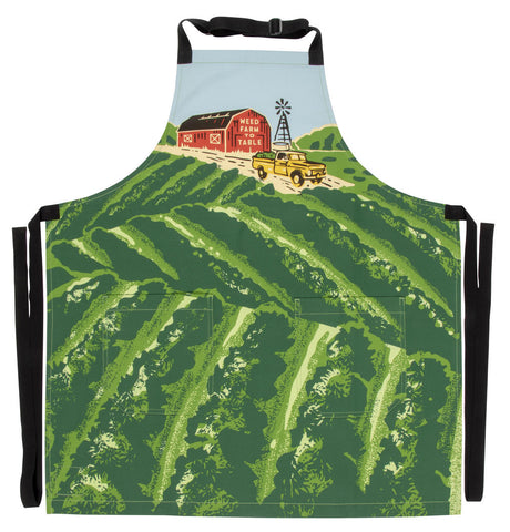 Weed Farm To Table Apron - Blue Q