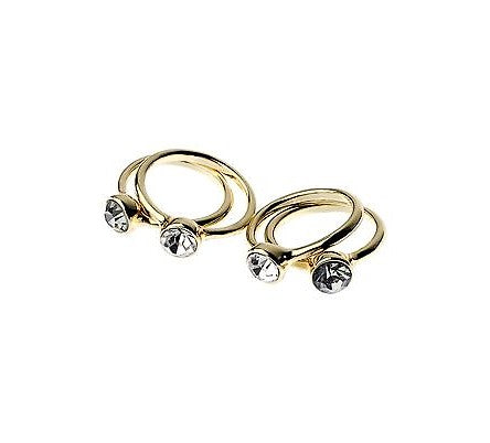 Modern Stone Gold Ring Set - Navya