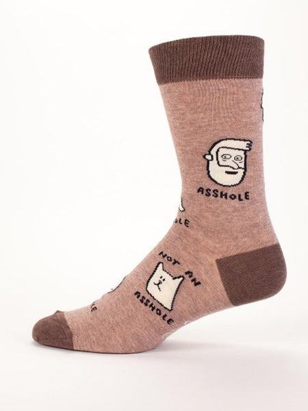 Men's Crew Socks - Assholes Are Everywhere - Blue Q - Navya
