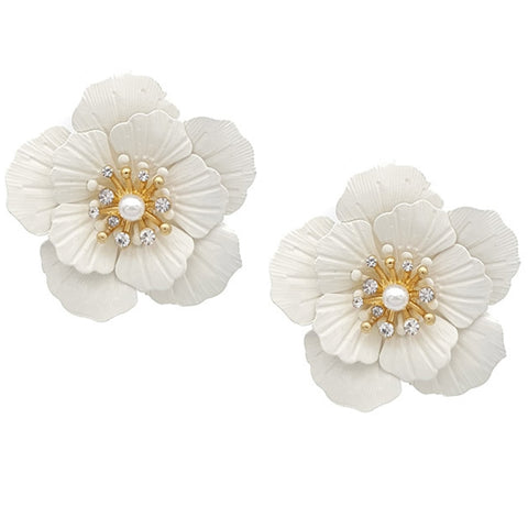 Azalea Floral Earrings - Navya