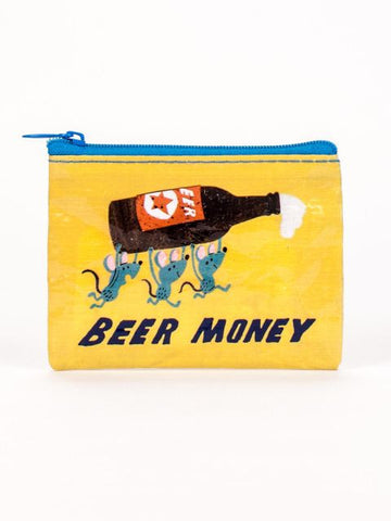 Beer Money Coin Purse - Blue Q - Navya