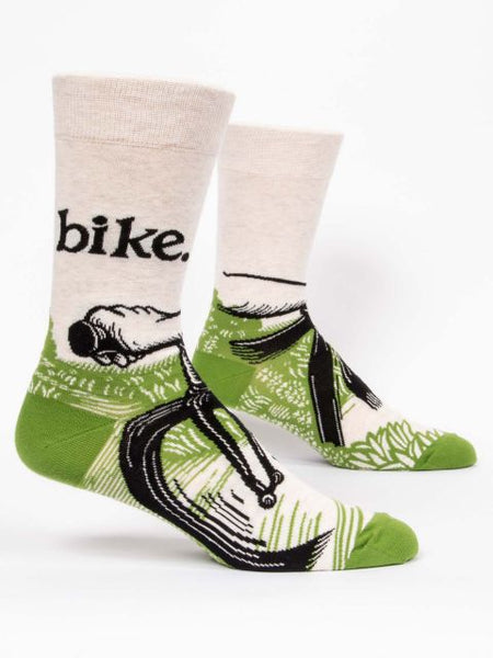 Men's Crew Socks - Bike Path - Blue Q