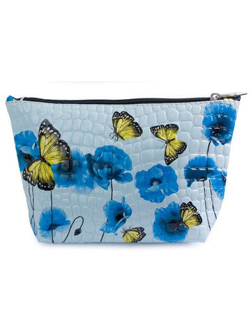 Blue Poppies Cosmetic Bag
