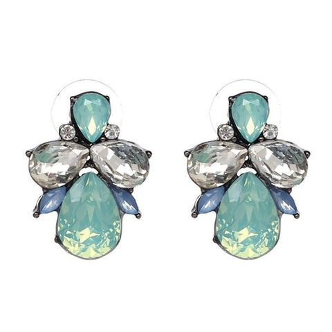 Primrose Crystal Stud Earrings - Navya