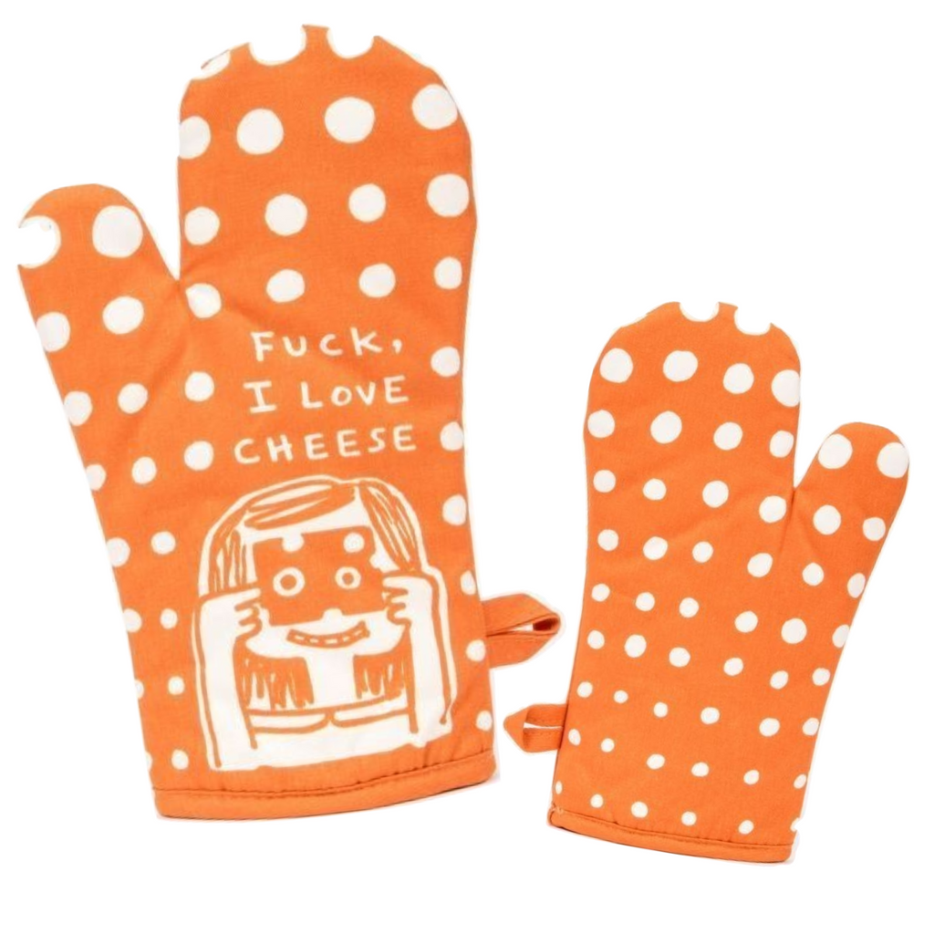 F*** I Love Cheese Oven Mitt - Blue Q - Navya