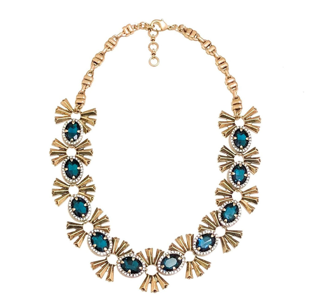 BlueStar Floral Statement Necklace - Navya